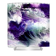 Waves Of Love - Multi Purple Teal Shower Curtain