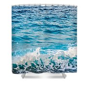 Waves Of Nice France Shower Curtain