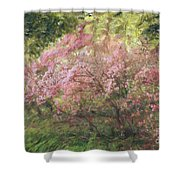 Waves Of Spring Shower Curtain
