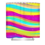 Waves Of Wishes Shower Curtain