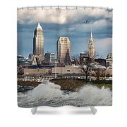 Waves On Cleveland Shower Curtain