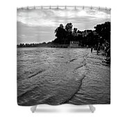 Waves On The Ganges Shower Curtain