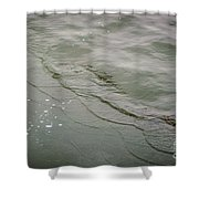 Waves On The Ice Shower Curtain
