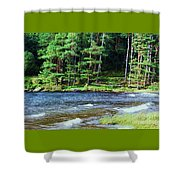 Waves On The Lake At Glendalough Shower Curtain