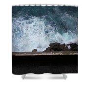 Waves On The Mediterranean Shower Curtain