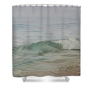 Waves Out Of The Fog Shower Curtain