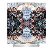 Waves Over Wood 2 Shower Curtain