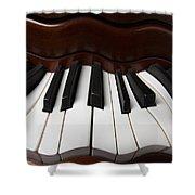 Wavey Piano Keys Shower Curtain