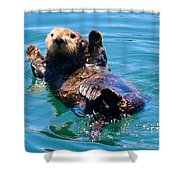 Waving Otter Shower Curtain