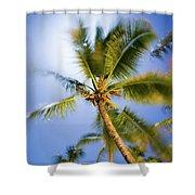 Waving Palm Shower Curtain