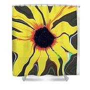 Waving Sunflower Shower Curtain