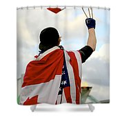 Waving The Flag Shower Curtain