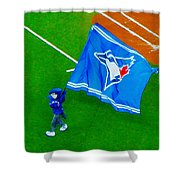 Waving The Flag For The Home Team      The Toronto Blue Jays Shower Curtain