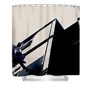Waving Window Washer Shower Curtain