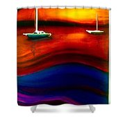 Wavy Bay  Shower Curtain