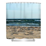 Wavy Day Shower Curtain