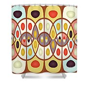 Wavy Geometric Abstract Shower Curtain