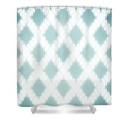 Wavy Light Teal Braids Shower Curtain