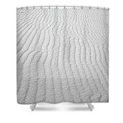 Wavy Sand Shower Curtain