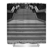 Wavy Stairs Shower Curtain