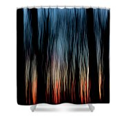 Wavy Sunset Shower Curtain