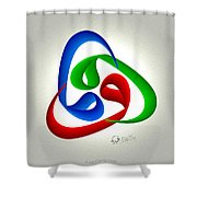 Waw Thuluth Shower Curtain
