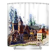 Wawel Castle Cracow Shower Curtain