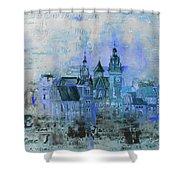 Wawell Castle, Poland Shower Curtain