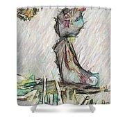 wax Shower Curtain