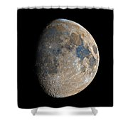 Waxing Gibbous Moon / Day 11 Shower Curtain