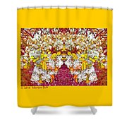 Waxleaf Privet Blooms In Autumn Tones Abstract Shower Curtain