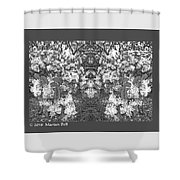 Waxleaf Privet Blooms In Black And White Abstract Poster Shower Curtain