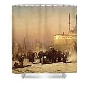 Way Between Old And New Cairo Shower Curtain
