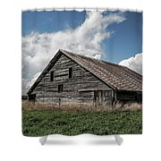 Way Of Life - Weathered Barn In Kansas Shower Curtain
