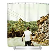 Way Of Old Travel Shower Curtain