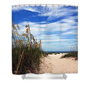 Way Out To The Beach Shower Curtain