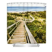 Way To Neck Beach Shower Curtain
