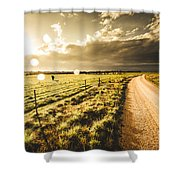 Way To Policemans Point Tasmania Shower Curtain