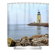 Way To The Lighthouse Shower Curtain