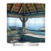 Wayah Bald Observation Tower - Macon County, North Carolina Shower Curtain