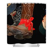 Waylon Jennings Boots Shower Curtain