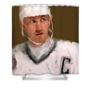 Wayne Gretzky Kings Portrait Shower Curtain