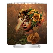 Blooms A Fragile Yellow Rose Shower Curtain