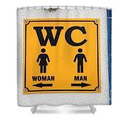 Wc Sign, Croatia Shower Curtain