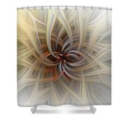 We Are All Connected Soft Abstract  Shower Curtain
