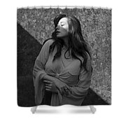 We Are All Made Of Light And Shadows Shower Curtain