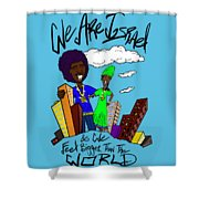 We Are Israel Shower Curtain