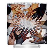 We Are One Shower Curtain