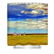 We Belong To This Land Shower Curtain