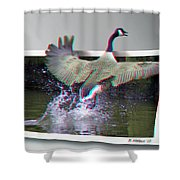 We Have Liftoff - Use Red-cyan 3d Glasses Shower Curtain